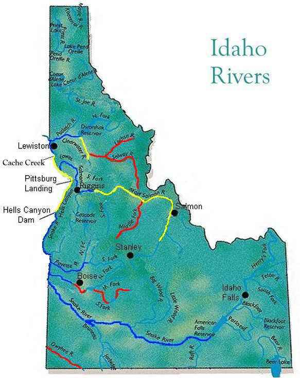 WWA Idaho Rivers Access Map